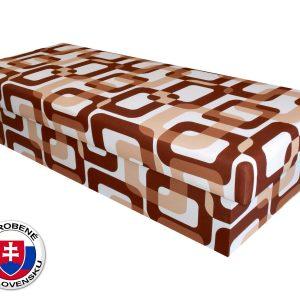 Jednolôžková posteľ (váľanda) 80 cm Benab Solo hnedá (s matracom)