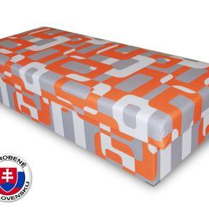 Jednolôžková posteľ (váľanda) 80 cm Benab Solo oranžovosivá (s matracom)